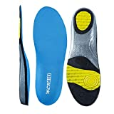 wernies Athletic Shoes Insoles for Mens Womens, Shoe Sole Inserts for Running, Neutral Arch Comfort Replacement Sports Performance Gel Shoe Insert, Sneaker Insert, Sky Blue Size XL ...