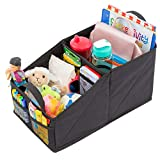 Premium Front & Backseat Car Organizer | Heavy Duty Back Stitching - 9 Clutter-Free Seat Storage Pockets | Easily Keep Seats & Floors Organized & Clean w/ Supply and Toy Organizers for Kids & Adults