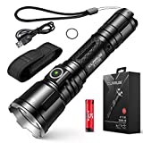 S.K.L Professional Tactical Flashlight 3200 Lumens Klarus XT11X Flashlight LED Rechargeable Police Flashlight USB Rechargeable 18650 IMR Battery (3.0 Upgraded, 3200 Lumens)