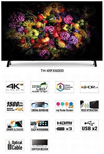 Panasonic 123 cm (49 Inches) 4K UHD LED Smart TV TH-49FX600D (Black) (2018 model) 5