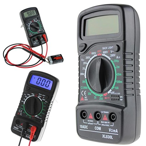 Aobiny XL-830L Handheld LCD Digital Multimeter 3 1/2 Voltmeter Ohmmeter Multitester F7