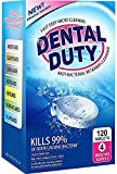120 Retainer and Denture Cleaning Tablets -(4 Months Supply)- Cleaner Removes Bad Odor, Plaque, Stains from Dentures, Retainers, Night Guards, Mouth Guards & Removable Dental Appliances. Made in USA.