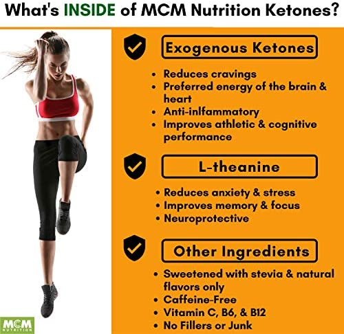 MCM Nutrition - Exogenous Ketones Supplement & BHB - Caffeine Free and Suppresses Appetite - Instant Keto Mix That Puts You into Ketosis Quick & Boosts The Keto Diet (Orange Flavor - 15 Servings) 6