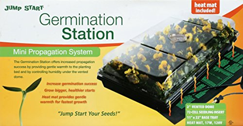 Jump-Start-CK64050-Germination-Station-wHeat-Mat-Tray-72-Cell-Pack-2-Dome