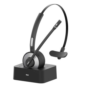 Trucker Bluetooth Headset,Willful Wireless Headset with Microphone,Charging Station,Noise Cancelling Clear Sound,Mute Button,Phone Headset for Car Truck Driver Call Center Office