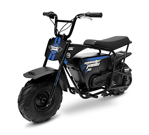 Monster Moto MM-E1000-BB Electric Mini Bike, Assembled in the USA (1000Watt, Blue/Black)