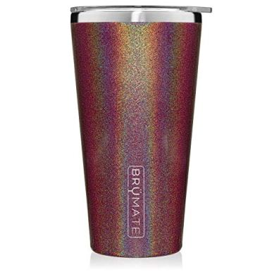 Brumate-Imperial-Pint-20oz-Shatterproof-Double-Wall-Vacuum-Insulated-Stainless-Steel-Travel-Camping-Mug-for-Beer-Cocktails-Coffee-Tea-with-Splash-Proof-Lid-for-Men-Women-Glitter-Merlot