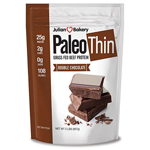 Julian Bakery Paleo Protein Double Chocolate Powder Grass Fed Beef, 2 Pound