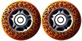 Cheetah Rippers Cheetah Wheels for Ripstik Wave Board ABEC 9, 76mm, Orange