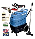 JaniLink Premium 500 PSI Portable Carpet Extractor Machine with 3 Vac Motors 6 Stages, 2 Heats, Hose, Wand and Essential Tools Included