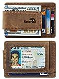 NapaWalli Genuine Leather Magnetic Front Pocket Money Clip...