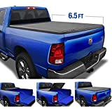 Tyger Auto Black Top T3 Soft Tri-Fold Truck Tonneau Cover for 2002-2018 Dodge Ram 1500 2019-2020 Classic 2003-2019 2500 & 3500 Fleetside 6.4' Bed Without RamBox TG-BC3D1011