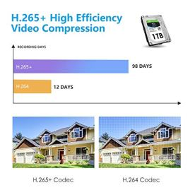 ZOSI-H265-1080p-Home-Security-Camera-System-8-Channel-Surveillance-DVR-Recorder-with-Hard-Drive-1TB-and-8-x-1080p-Weatherproof-CCTV-Camera-OutdoorIndoorRemote-Access-and-Motion-Detection