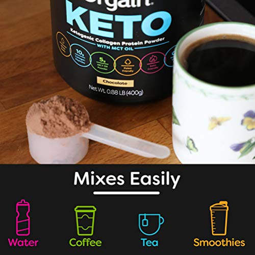 Orgain Keto Collagen Protein Powder with MCT Oil, Chocolate - Paleo Friendly, Grass Fed Hydrolyzed Collagen Peptides Type I and III, Dairy Free, Lactose Free, Gluten Free, Soy Free, 0.88 Pound 5