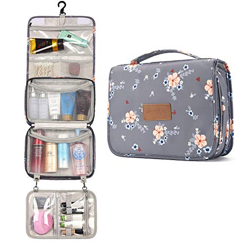 Toiletry Bag for Women, Large Hanging Travel Makeup Bag Water-resistant for...