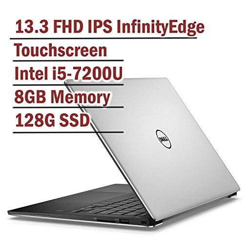 Dell XPS 13 13.3 Inch FHD Touchscreen Flagship Laptop Silver Intel Core i5-7200U, 8GB RAM, 128GB SSD, Backlit Keyboard, InfinityEdge Windows 10 (Renewed)