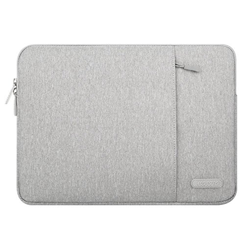 MOSISO Laptop Sleeve Bag Only Compatible MacBook 12-Inch with Retina Display A1534 2017/2016/2015 Release, Vertical Style Water Repellent Polyester Protective Case Cover with Pocket, Gray