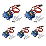 J-Deal 5X Pcs SG90 Micro Servo Motor 9G RC Robot Helicopter Airplane Boat Controls