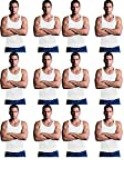 Andrew Scott Men's 12 Pack Color Tank Top a Shirt (Medium 38-40, 12 PK- Bright White)
