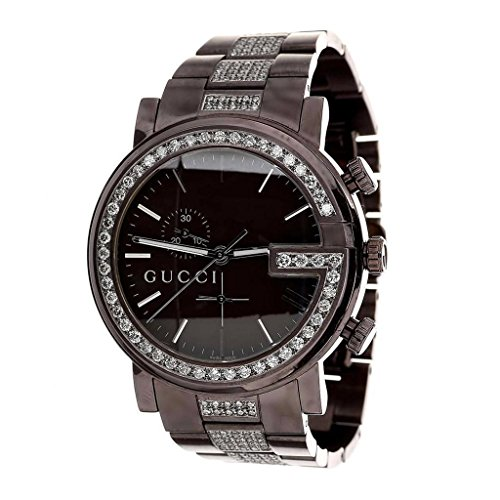 d397167f709 Brown Gucci Watch Mens YA101331 Genuine 6 Ct Diamond 45 MM Brand New ...