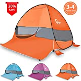 Cheryu Pop Up Beach Tent,Portable Outdoor Cabana 3-4 Person Camping...