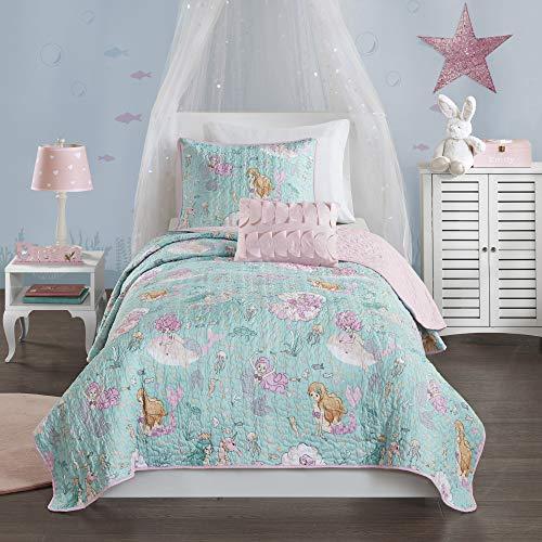 Mi Zone Kids Cozy Quilt Set, Casual Modern Vibrant Fun Design, Lightweight All Season Kids Bedding, Decorative Pillow…
