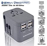 Travel Adapter China to USA- Power Plug Outlet - International Travel- w/4 USB Ports Work for 150+ Countries - 220 Volt Adapter - Type C A G I for UK Japan China EU Europe European