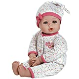 Adora PlayTime Baby Dot Vinyl 13' Girl Weighted Washable Play Doll Gift Set with Open/Close Eyes for Children 1+ Includes Bottle Cuddly Snuggle Soft Toy