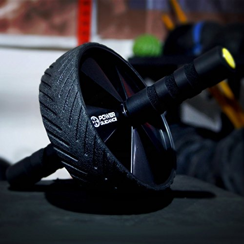 POWER GUIDANCE AB Wheel, The Best Fitness Equipment for 6 Pack Abs & Core Workout Roller - with Innovative Non-Slip Rubber, Extra Thick Knee Pad & Comfort Foam Grips