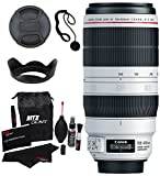 Canon EF 100-400mm f/4.5-5.6L is II USM Lens + Polaroid Optics 4 Piece Filter Set (UV, CPL, FLD, Warming) + Ritz GearTM Premium 8-in-1 Cleaning Kit + Deluxe Polaroid Accessory Kit