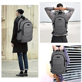 Travel-Laptop-Backpack-Anti-Theft-Waterproof-Backpack-College-Student-Bookpack-with-USB-Charging-Port-Headphone-interface-for-Women-MenBusiness-Computer-Bag-Fits-Under-156-Inch-Laptop-Notebook