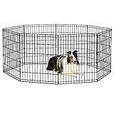 New World Pet Products B552-30 Foldable Exercise Pet Playpen, Black, Medium/24' x 30'