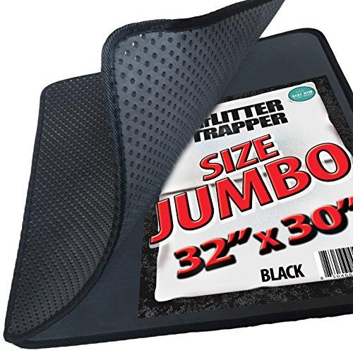 """iPrimio Jumbo Size Cat Litter Trapper Litter Mat, EZ Clean Cat Mat, Litter Box Mat Water Proof Layer Puppy Pad Option. Patent Pending. (32""""x30""""Jumbo)"""
