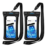 Mpow 084 Waterproof Phone Pouch Floating, IPX8 Universal Waterproof Case Underwater Dry Bag Compatible iPhone Xs Max/Xr/X/8/8plus/7/7plus Galaxy s10/s9/s8 Note 9 Google Pixel up to 6.5' (Black+Black)