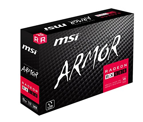 MSI Radeon RX 580 Armor OC 8GB VR Ready FinFET DirectX 12 Gaming Graphics Card 10