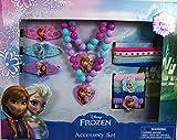 UPD Disney Frozen Elsa & Anna Girls Hair & Jewelry Accessory 15Piece Gift Set, Multicolor