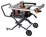 """WEN 3720 15A Jobsite Table Saw with Rolling Stand, 10"""""""