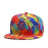 CLOTIME Snapback Hat - Originals Flat Visor Cap Hip-hop Adjustable Baseball Cap Unisex (Orange)