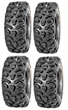 Full set of Kenda Bear Claw HTR Radial (8ply) 25x8-12 and 25x10-12 ATV Tires (4)