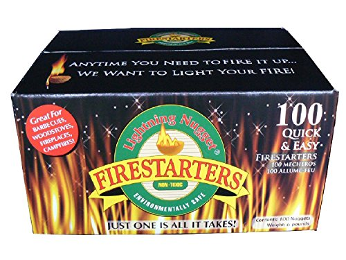 Lightning Nuggets Fire Starters, 100 Pack