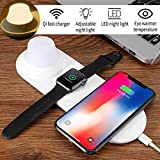 3 in 1 Qi Wireless Charger Pad LED Night Light Magnetic Attraction Rechargeable Fast Charging for iPhone for Samsung for Xiaomi