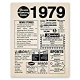 8x10 1979 Birthday Gift // Back in 1979 Newspaper Poster // 40th Birthday Gift // 40th Party Decoration // 40th Birthday Sign // Born in 1979 Print