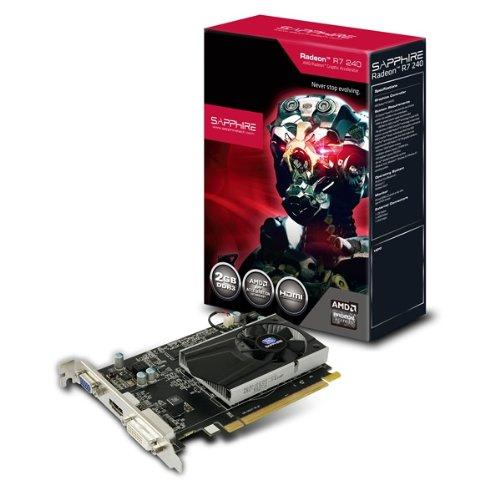 Sapphire Radeon R7 240 2GB DDR3 HDMI/DVI-D/VGA with Boost PCI-Express Graphics Card 11216-00-20G