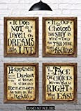 Harry Potter Quotes & Sayings - Set of 4-8'x10' Prints - Great Harry Potter Gifts (set #1)