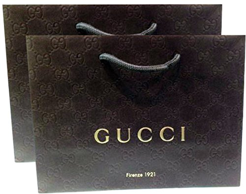 "51RDRts1VVL 100% Authentic Gucci bag Shopping bag, gift bag, or any other occasion 9"" Wide X 6 5/8"" High X 3 1/2"" Deep"