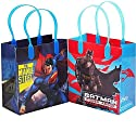 Batman vs Superman Dawn Justice Authentic Licensed 12 Party Favor Reusable Goodie Small Gift Bags