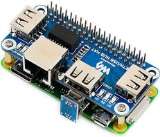 EthernetUSB-HUB-HAT-Expansion-Board-for-Raspberry-Pi-4B3B3B2BZeroZero-WZero-WHwith-RJ45-10100M-Ethernet-Port-Based-on-RTL8152B-Chip-and-Three-USB-PortsCompatible-with-USB2011