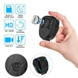 Body Camera Spy Hidden Camera, Mini Camera HD 1080P Wearable Camera with Night Vision Body Worn Camera, Portable Small Camera Built-in 16GB Memory Card Mini Sport Camera with 360° Adjustable Clip