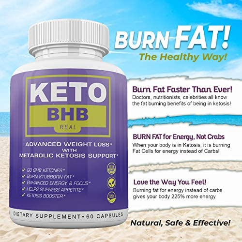 Keto BHB Real - Advanced Weight Loss wqth Metabolic Ketosis Support - 60 Capsules - 30 Day Supply 8