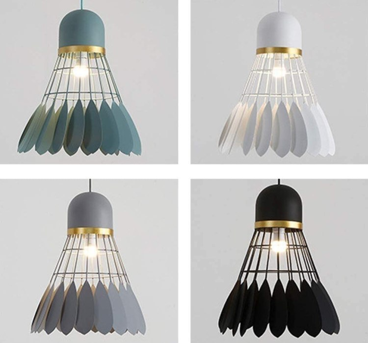 Gift ideas for badminton players - shuttle lampshade